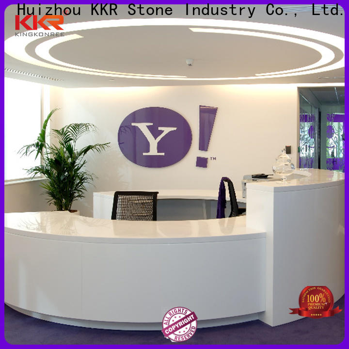 KKR Stone pure acrylic reception desk countertop vendor for entertainment