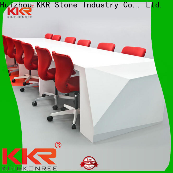 KKR Stone fashion solid surface reception desk long-term-use for school building