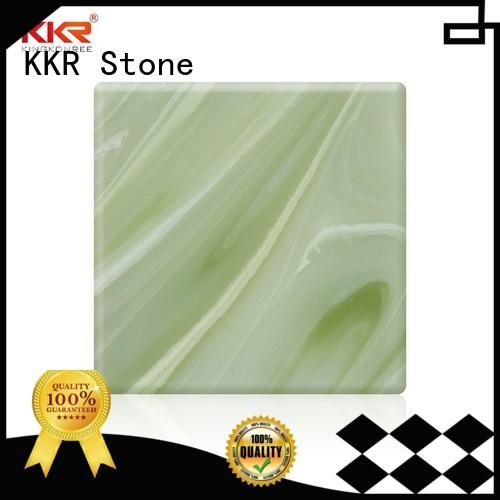 translucent solid surface artificial for building KKR Stone