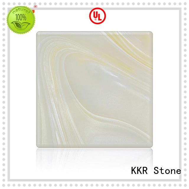 KKR Stone soild faux alabaster sheet at discount for entertainment