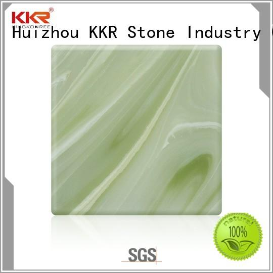 KKR Stone modified translucent solid surface material from manufacturer for bar table