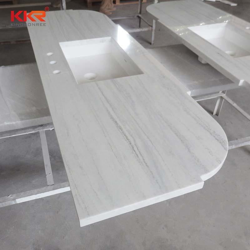 Texture Pattern Solid Surface Countertop & Vanity Top KKR-VT001