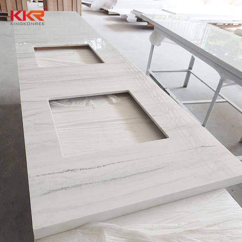 Texture Pattern Solid Surface Countertop & Vanity Top KKR-VT001