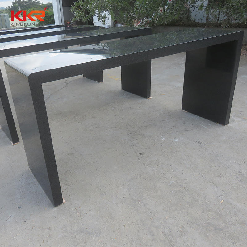 Black Color Acrylic Stone Solid Surface Bar Counter KKR-BT002