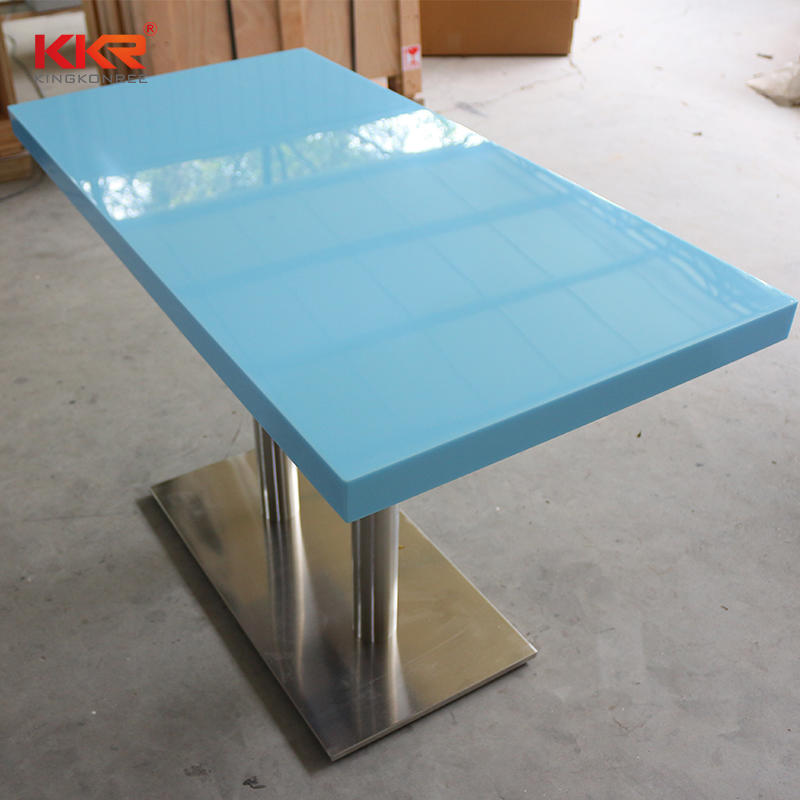 Bright Blue Color Acrylic Solid Surface Table-1