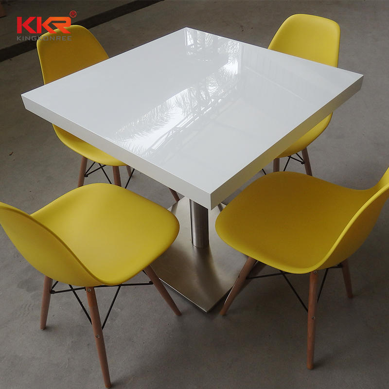 White Marble Artificial Stone Acrylic Solid Surface Table-2