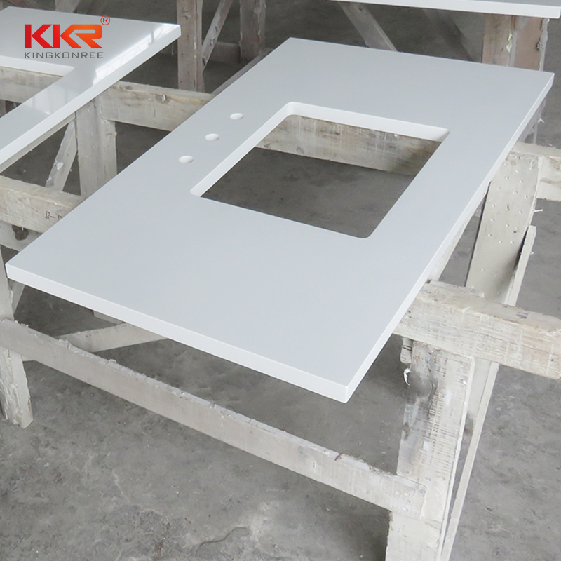 KKR Stone pattern bathroom vanity tops supplier for worktops-1