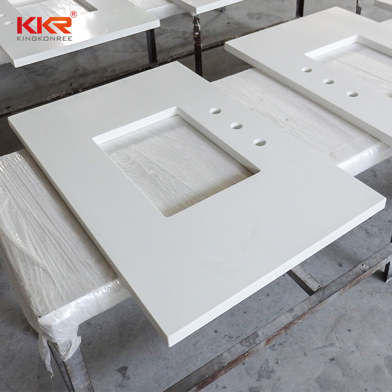 KKR Stone artificial bathroom countertops China for worktops-1