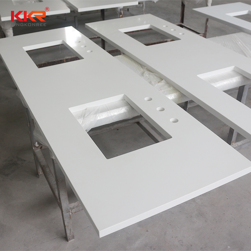 KKR Stone artificial bathroom countertops China for worktops-2