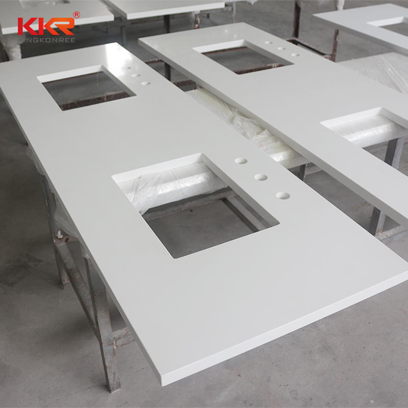Single Sink / Double Sink Bathroom Countertop & Vanity Top KKR-VT004