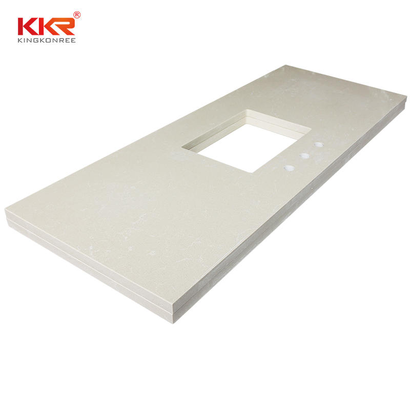 Custom Design Acrylic Solid Surface Countertop & Vanity Top KKR-VT003