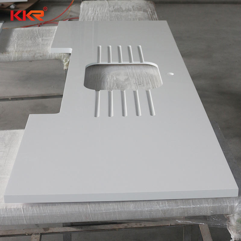 L Shape Artificial Stone Solid Surface Kitchen Countertop KKR-KC001