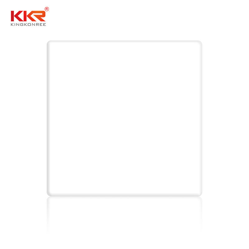 Royal White 100% Pure acrylic solid surface sheet KKR-M2700