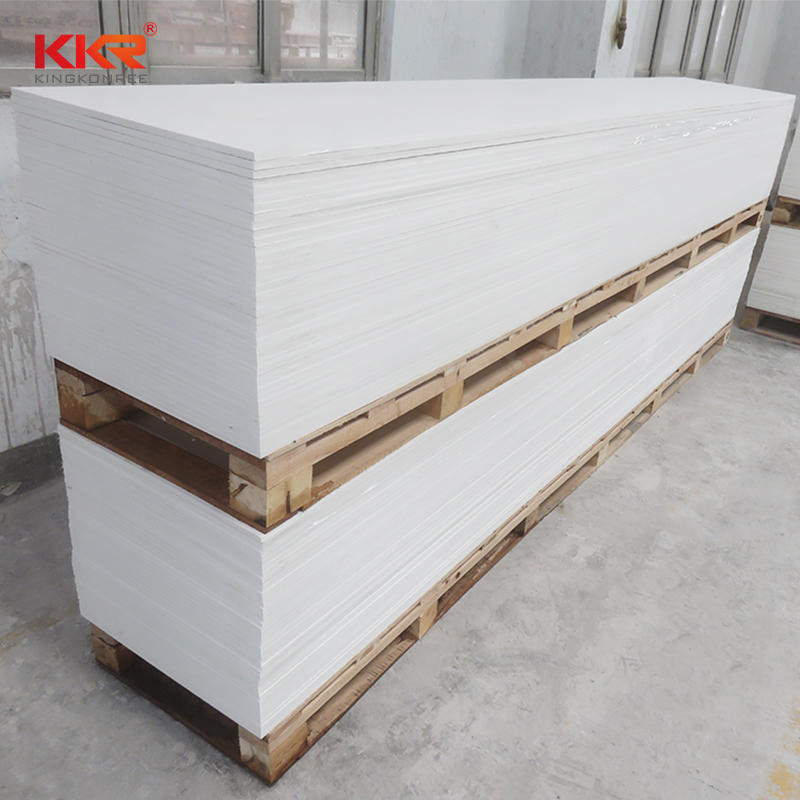 Glacier White Modified Acrylic Solid Surface Sheets KKR-M1700