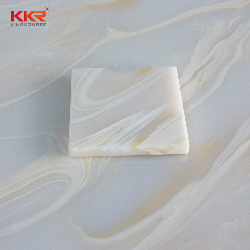 KKR Stone soild translucent solid surface material with good price for building-1