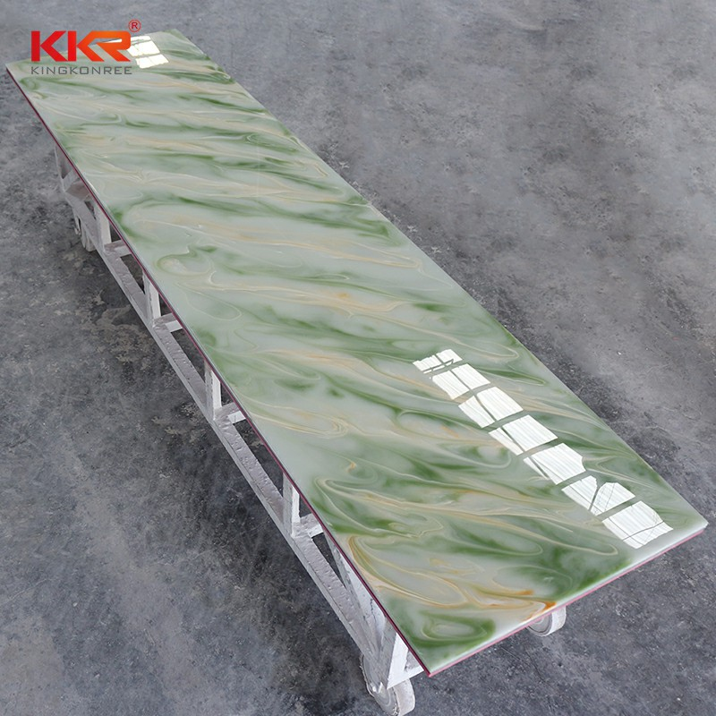 KKR Stone light weight translucent solid surface with good price furniture set-2