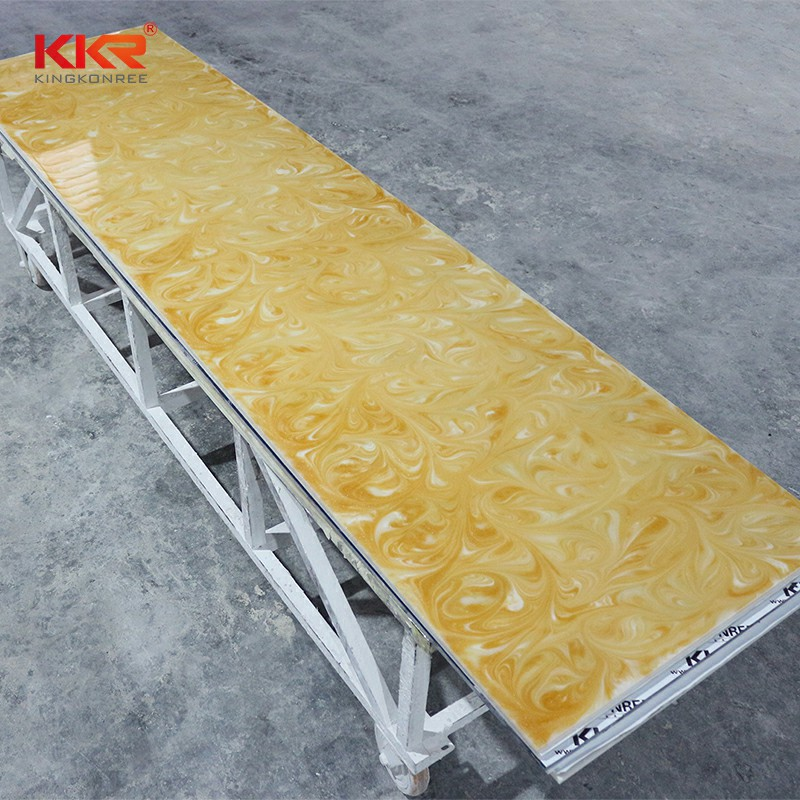 KKR Stone modified translucent stone panel bulk production for bar table-2
