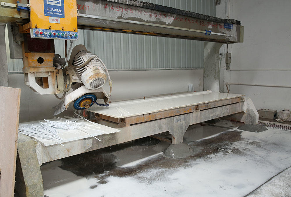Machining the solid surface countertops
