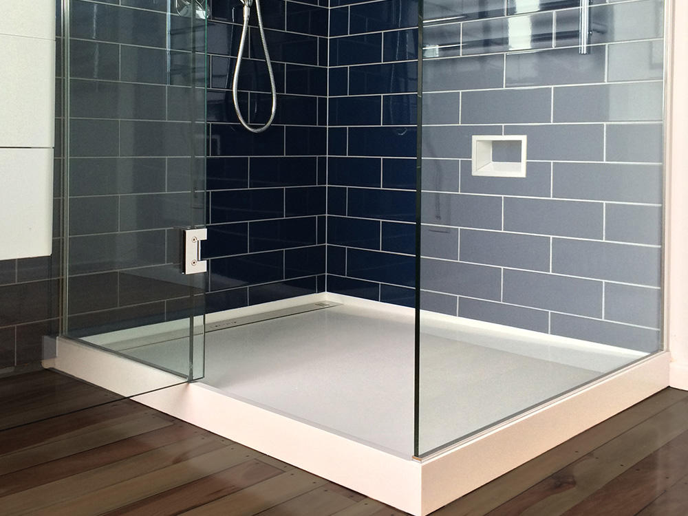 KKR Custom made shower tray for new zealand project