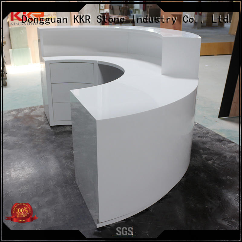 KKR Stone modern solid surface desk order now for table tops