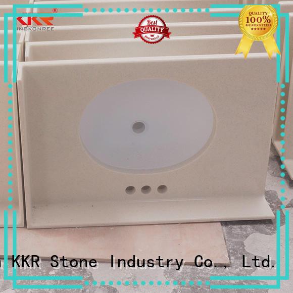 KKR Stone beige vanity countertops certifications for school building