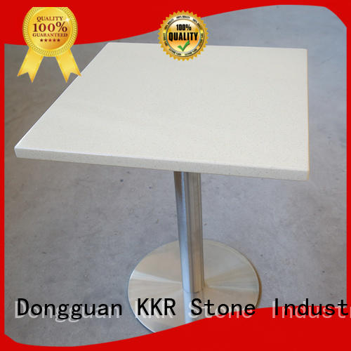 restaurant solid surface table marble KKR Stone
