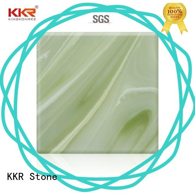 light weight acrylic solid surface sheet prices bulk production for entertainment KKR Stone