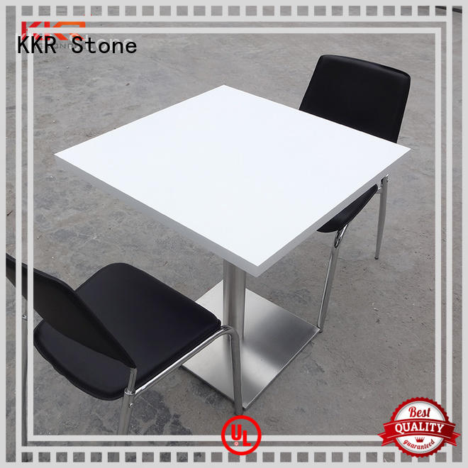 marble round dining table acrylic KKR Stone