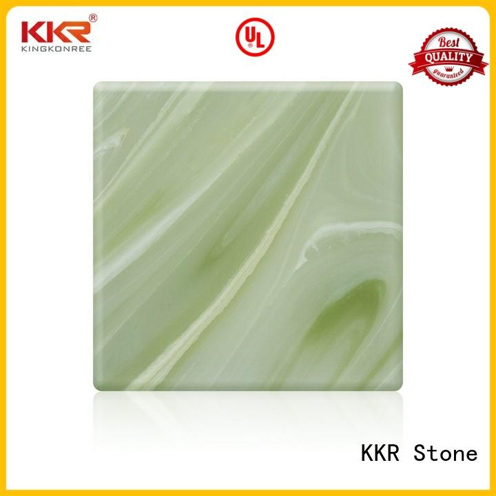 KKR Stone modern art style translucent resin panel with good price for early education