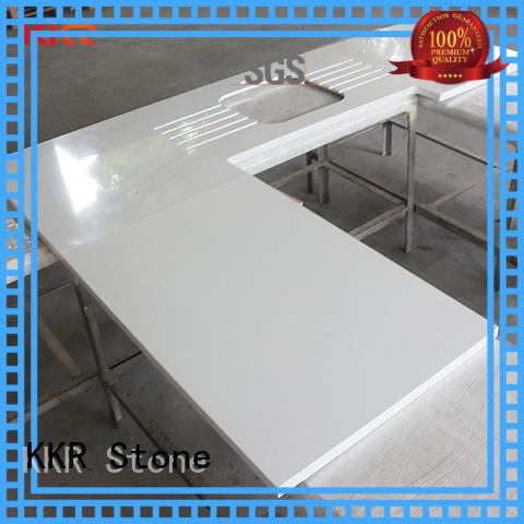 KKR Stone silky solid kitchen countertops free design for self-taught