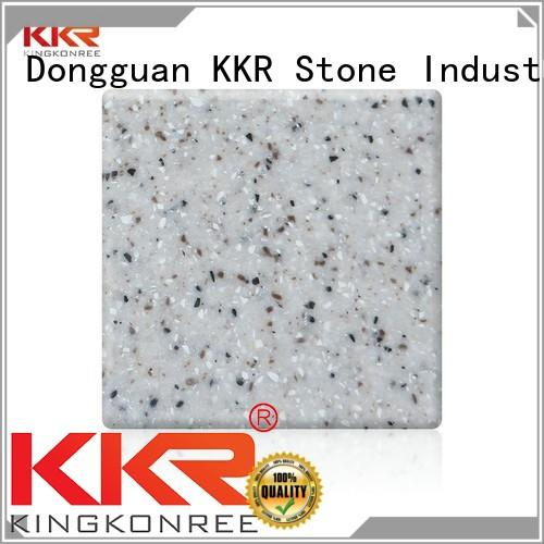 Solid Surface pure acrylic solid surface sheet  manufacturer for shoolbuilding KKR Stone