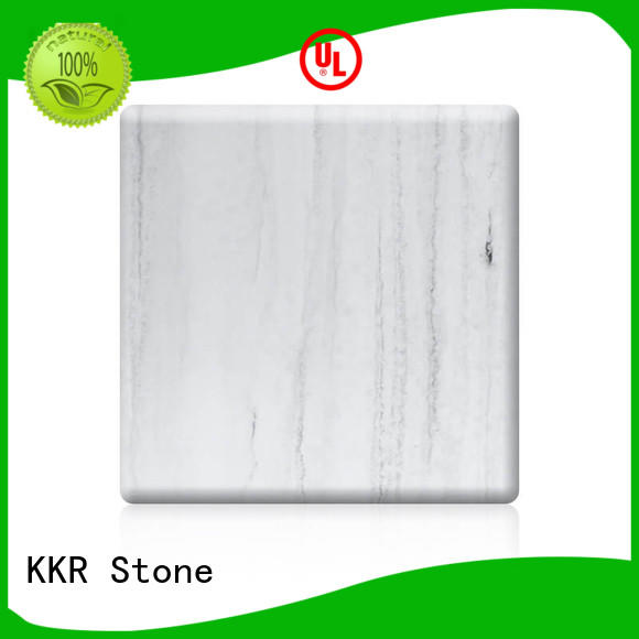 corian solid surface sheet soild for garden table KKR Stone