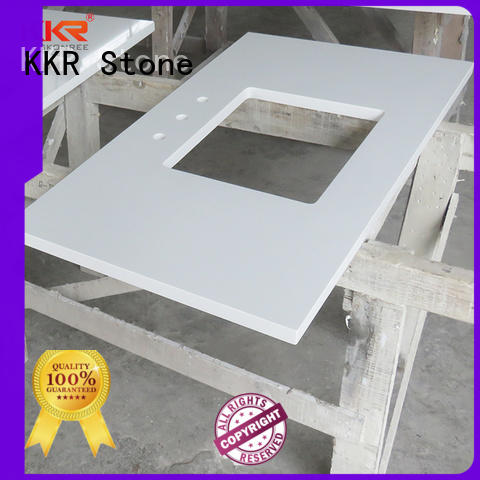 surface vanity top bathroom single for table tops KKR Stone