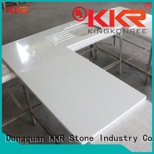 KKR Stone smooth solid kitchen countertops producer for shoolbuilding