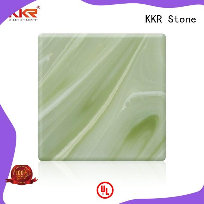 transparent faux alabaster sheet with good price for early education KKR Stone