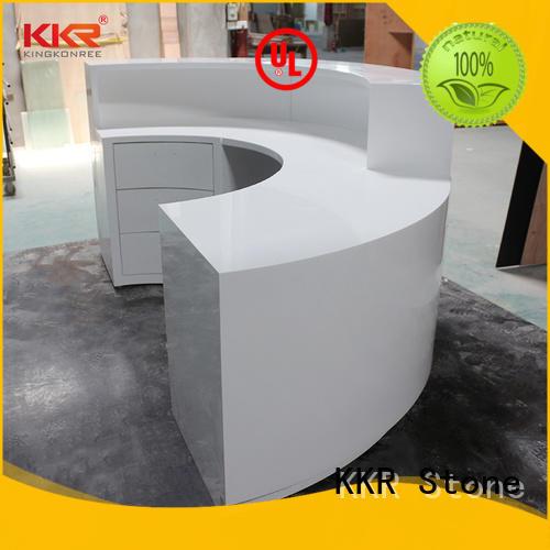 KKR Stone customize acrylic counter top stone for bar table