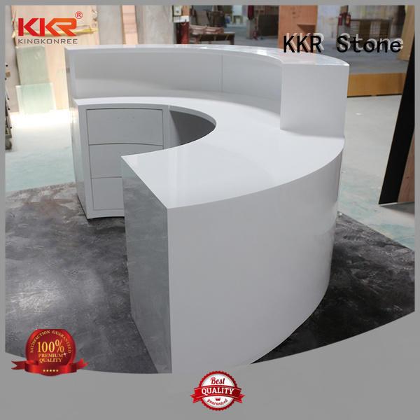 KKR Stone quality solid surface desk custom-design for table tops