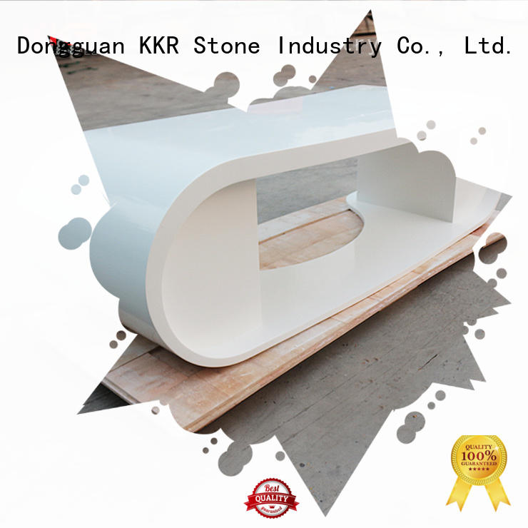 KKR Stone bar curved reception desk widely-use for kitchen tops