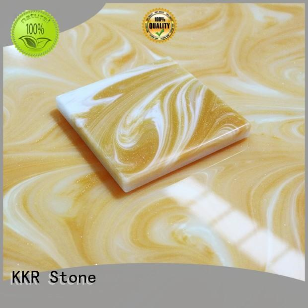 KKR Stone solid solid surface material factory price for bar table