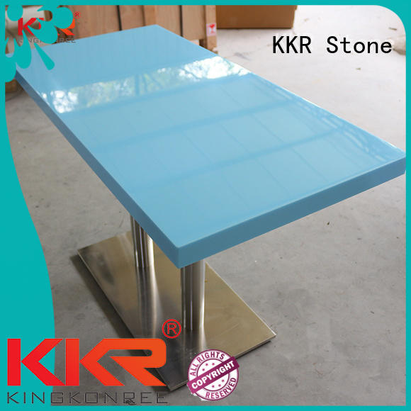marble dining table round KKR Stone