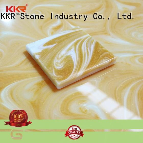 stone acrylic solid surface sheet prices bulk production for garden table KKR Stone
