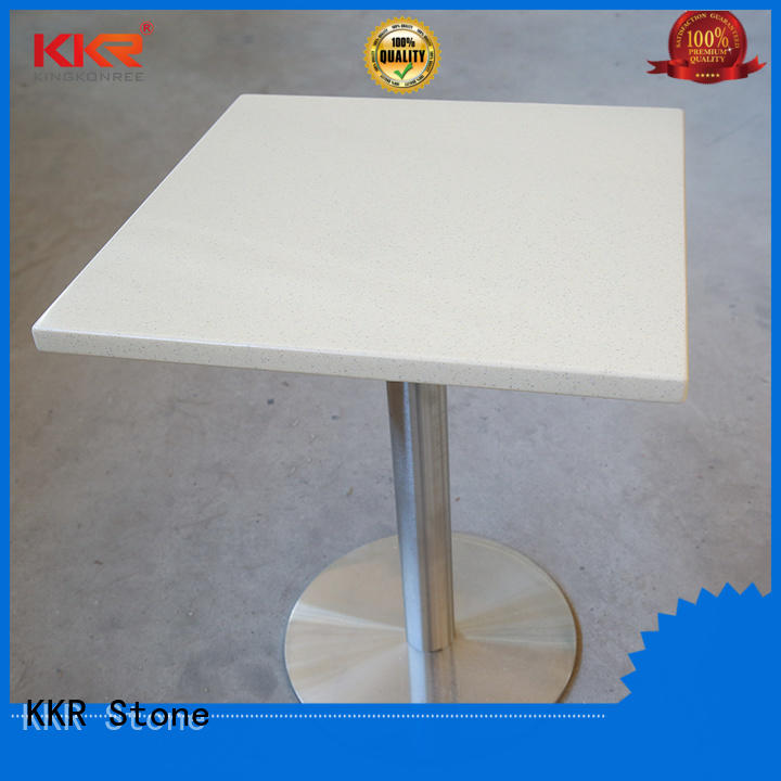 KKR Stone restaurant marble dining table set