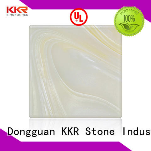 KKR Stone high strength faux alabaster sheet from China furniture set