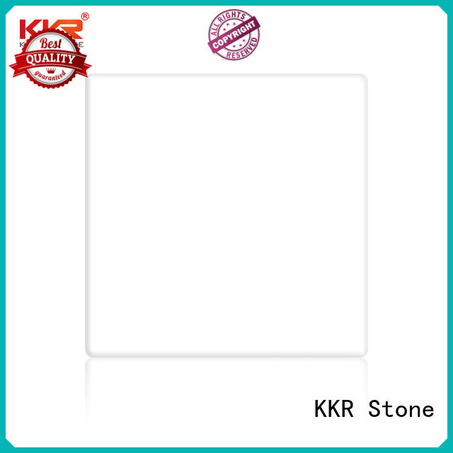 Warm touch buy solid surface sheets superior stain for kitchen tops KKR Stone