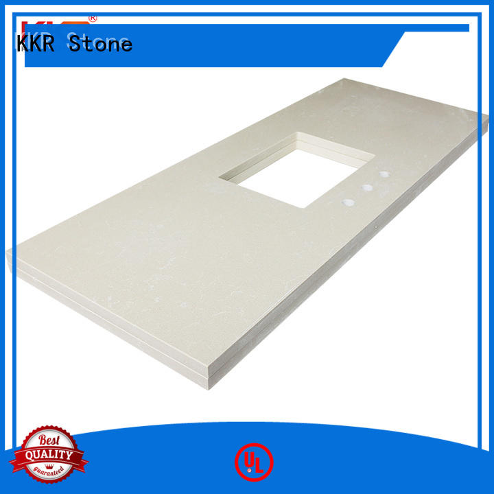 KKR Stone double Sink solid surface bathroom countertops China for worktops