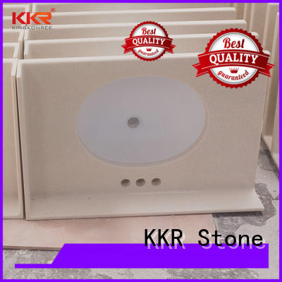 KKR Stone solid Surface vanity top bathroom supplier for kitchen tops