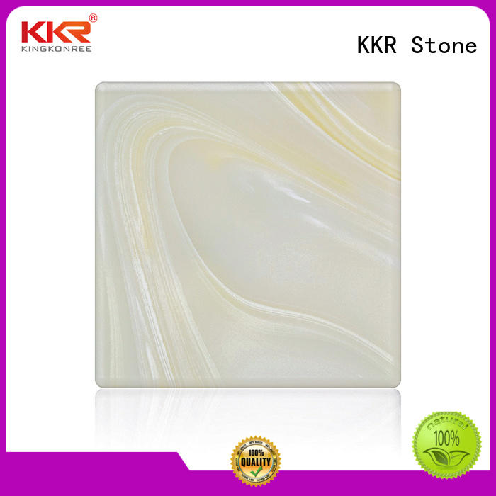 quality artificial translucent stone surface for early education KKR Stone