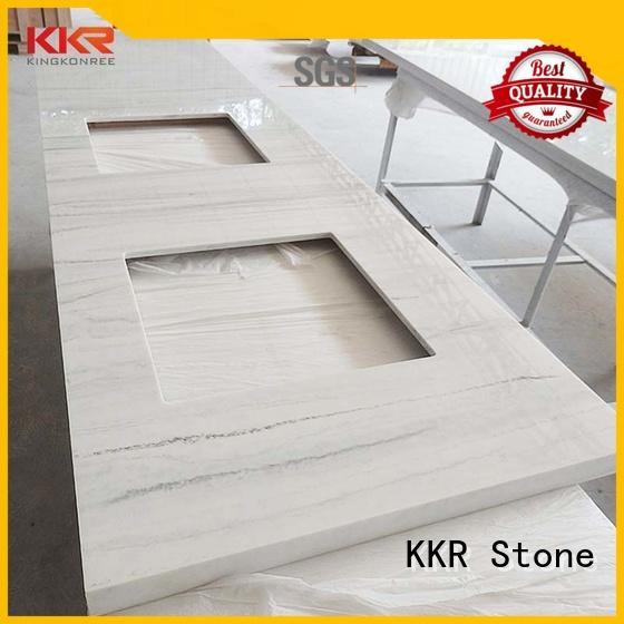 countertop vanity top bathroom solid for early education KKR Stone