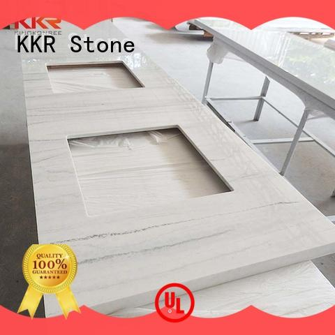 KKR Stone double solid surface countertop for table tops