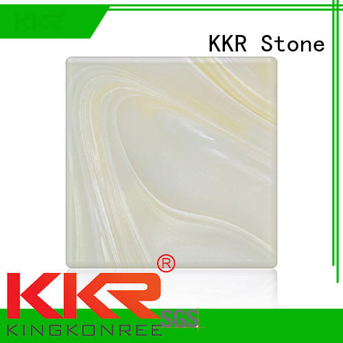 KKR Stone modern art style solid surface material transparent for garden table